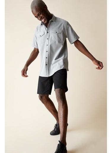 DeFacto Regular Fit Bermuda Şort Siyah